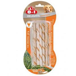 8in1 Delights Twisted Sticks XS Tavuklu Burgu Ödül Çubuğu (10'lu)
