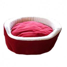 Bedspet Ağızlıklı Sepet Kedi Köpek Yuvası Kırmızı