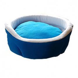 Bedspet Ağızlıklı Sepet Kedi Köpek Yuvası Mavi