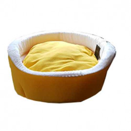 Bedspet Ağızlıklı Sepet Kedi Köpek Yuvası Sarı