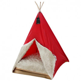 Kedi Köpek Çadırı Kırmızı 50x50x70
