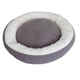 Bedspet Simit Kedi-Köpek Yatağı Gri-Beyaz