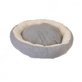 Bedspet Simit Kedi-Köpek Yatağı Gri-Krem