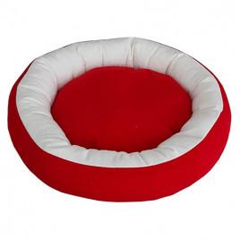 Bedspet Simit Kedi-Köpek Yatağı Kırmızı-Beyaz