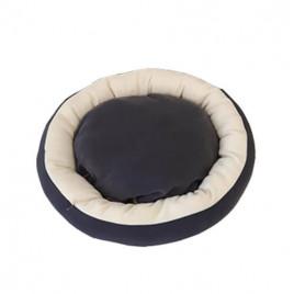 Simit Kedi Köpek Yatağı Koyu Gri Kahve