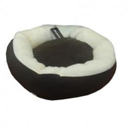 Simit Kedi Köpek Yatağı Koyu Kahve
