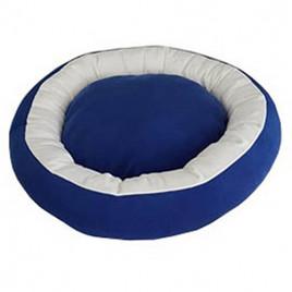 Bedspet Simit Kedi-Köpek Yatağı Mavi-Beyaz