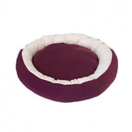 Simit Kedi-Köpek Yatağı Mor-Beyaz