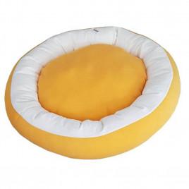 Bedspet Simit Kedi-Köpek Yatağı Sarı-Beyaz
