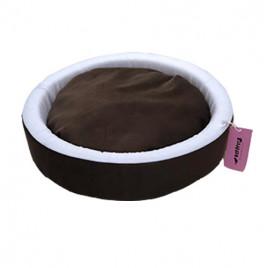 İnce Sepet Kedi Köpek Yatağı Kahverengi