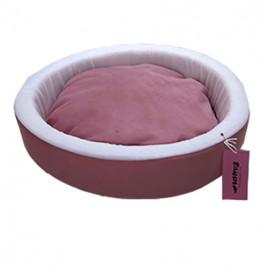 İnce Sepet Kedi Köpek Yatağı Pembe