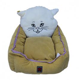 Kedi Kafalı Yatak Hardal 45x50 Cm