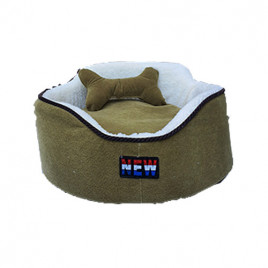 Oval Köpek Yatağı Yeşil M 60x60 Cm