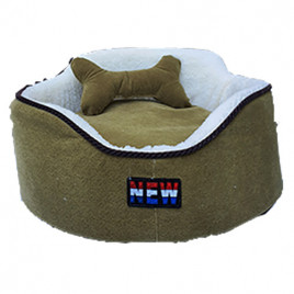 Oval Köpek Yatağı Yeşil S 50x50 Cm