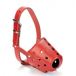 Kısa Burun Koruma Deri Ağızlık 1,5x55-55cm Red