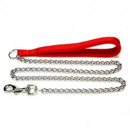 Doggie Polar Dokuma Saplı Zincir Gezdirme 2,5x110-cm Red