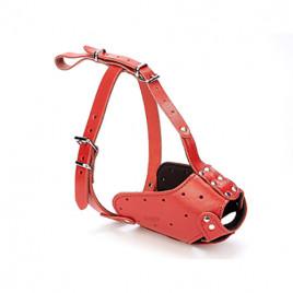 Uzun Burun Koruma Deri Ağızlık 2x65-65cm Red