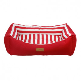 Tarte Dikdörtgen Yatak Vr05 Kırmızı Çizgili Large 78x60x22 Cm