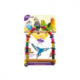 EuroBird Kuş Oyuncağı Boncuklu Salıncak