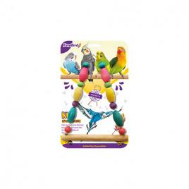 EuroBird Kuş Oyuncağı Renkli Boncuklu Üçgen Salıncak