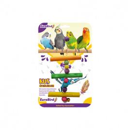 EuroBird Kuş Oyuncağı Renkli Üçlü Tahta Merdiven