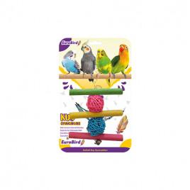 EuroBird Kuş Oyuncağı Üçlü Tahta Merdiven