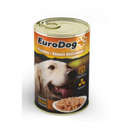 EuroDog Kümes Hayvanlı Köpek Konservesi 10x415 Gr