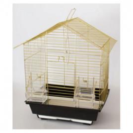 EuroGold Kafes Üçgen Çatılı Pirinç 28x22x39 Cm