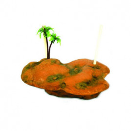 EuroGold Yüzen Kaplumbağa Adası 21,5x14,5x5,5 Cm