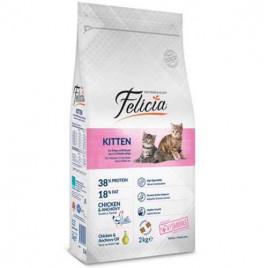 Felicia Az Tahıllı Yavru Tavuklu-Hamsili Kedi Maması 12 Kg