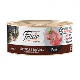 Tahılsız Biftek & Tavuk Kıyılmış Kedi Konservesi 24x85 Gr