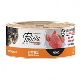 Tahılsız Sterilised Biftekli Fileto Kedi Konservesi 85 Gr