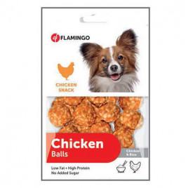 Flamingo Chicken Balls Tavuk ve Pirinçli Top Köpek Ödülü 75 gr