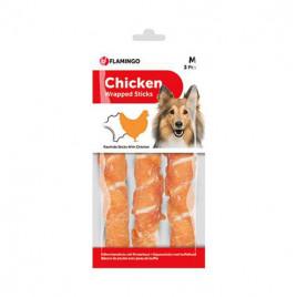 Flamingo Chicken Wrap Et Sargılı Köpek Ödül Çubuk 3 lü 17 cm
