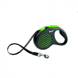 Flexi Design Otomatik Gezdirme Şerit Tasma Yeşil Medium 5 Mt