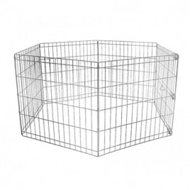 Köpek Oyun Alan Çiti Krom 60x54 Cm