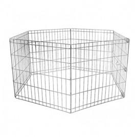 Köpek Oyun Alan Çiti Siyah Boyalı 55x75 Cm