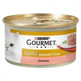 GourmetGold Savoury Cake Somonlu kedi Konserve 85Gr 12 Lı Avantaj Paketi