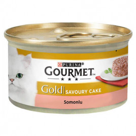 GourmetGold Savoury Cake Somonlu kedi Konserve 85Gr 24 Lü Avantaj Paketi