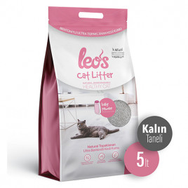 Cat Litter Baby Powder Kokulu Kalın Bentonit Kedi Kumu 5 Lt