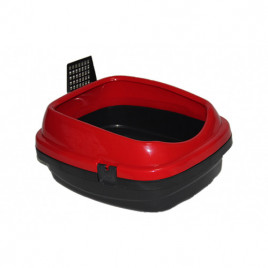 Pet Style Açık Kedi Tuvaleti Kırmızı 49,5x40x22 Cm