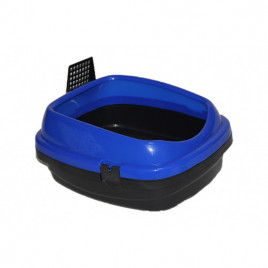 Pet Style Açık Kedi Tuvaleti Mavi 49,5x40x22 Cm