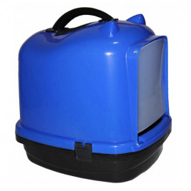 Pet Style Comfort Kapalı Kedi Tuvaleti Mavi