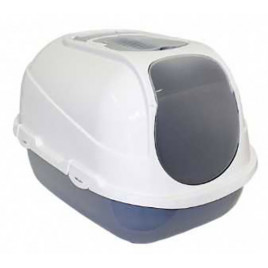 Mega Comfy Kapalı Kedi Tuvaleti Gri 46x66x50 Cm