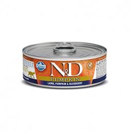 N & D Balkabağı Kuzu Yaban Mersini Yetişkin Kedi Konservesi 6x80 Gr