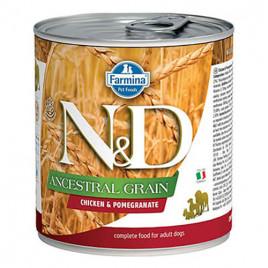 N & D Low Grain Tavuklu Narlı Yetişkin Köpek Konserversi 6x285 Gr