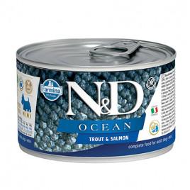 N & D Ocean Alabalık ve Somonlu Yetişkin Köpek Konservesi 6x140 Gr