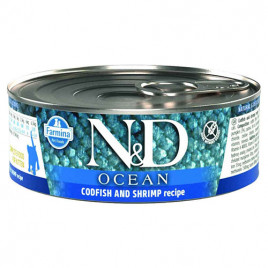N & D Ocean Morina Balığı,Karides,Balkabağı 6x80gr Yavru Kedi Konsreve