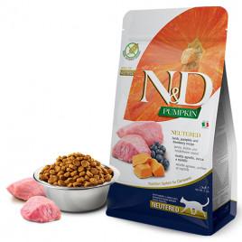 N & D Pumpkin Kuzu Yaban Mersini Kısırlaştırılmış Kedi Maması 5 Kg