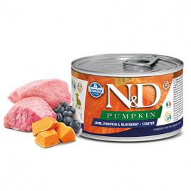 N & D Pumpkin Kuzu Yaban Mersini Starter Köpek Konservesi 6x140 Gr